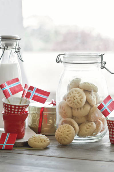 Jar Photograph - Shortbread Biscuits by A.y. Photography