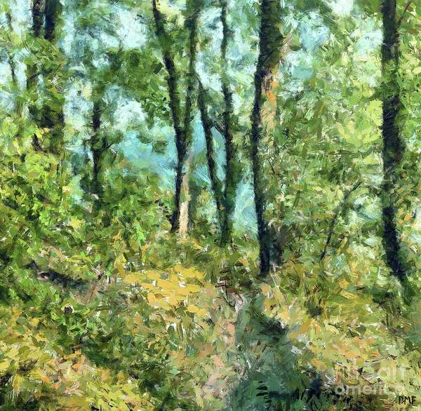 Wall Art - Painting - Shortcut Through The Forest. by Dragica Micki Fortuna