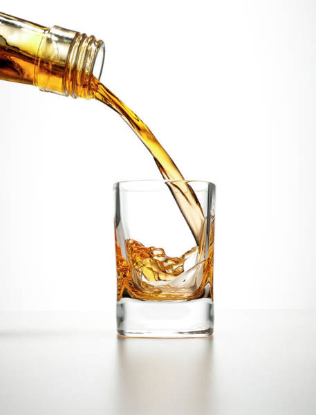 Motion Photograph - Shot Glass Drink by Chris Stein