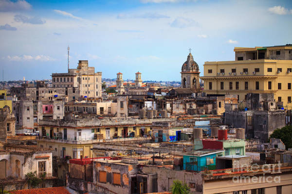 Havana Wall Art - Photograph - Shot Of Old Havana City, Cuba by Andrey Armyagov