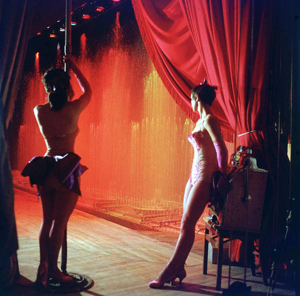 Photograph - Show Girls In The Wings At The Royal by Loomis Dean