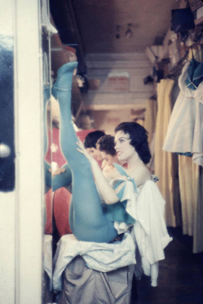 Dancing Photograph - Show Girls Relaxing Between Shows At by Gordon Parks