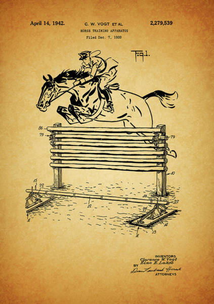 Drawing - Show Jumping Fence by Dan Sproul