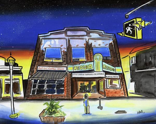 Wall Art - Painting - Show Time-acadia Cinema by Kevin Cameron