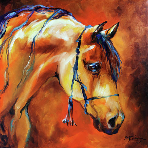 Painting - Showtime Arabian by Marcia Baldwin