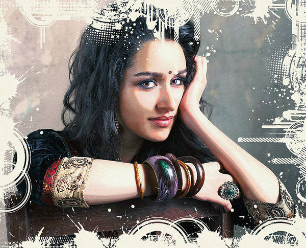 Digital Art - Shraddha Kapoor by Robert G Kernodle