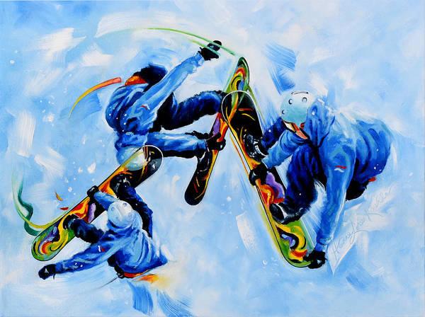 Snowboard Wall Art - Painting - Shredder by Hanne Lore Koehler