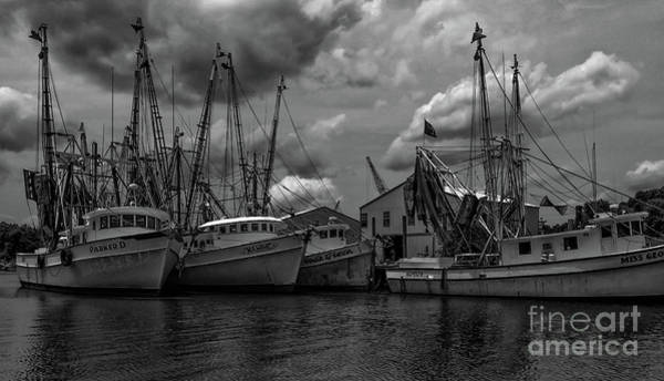 Photograph - Shrimp Boat Row - Mcclellanville by Dale Powell