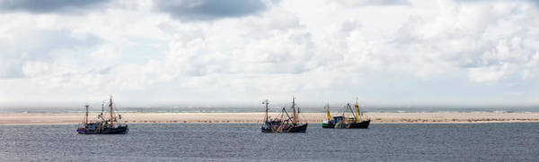 Wall Art - Photograph - Shrimp Boats On The North Sea Borkum Germany by imageBROKER - Rolf Fischer