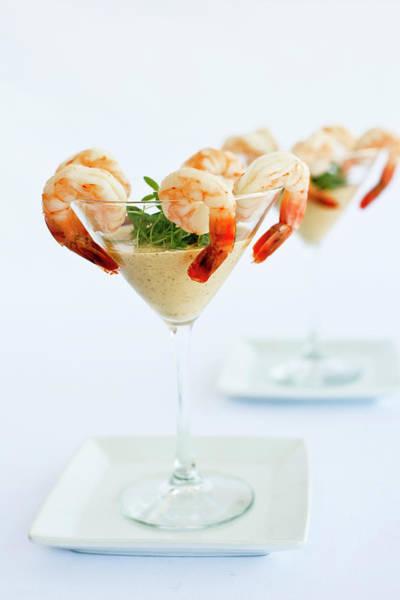 Cocktail Photograph - Shrimp Cocktail by Pam Mclean
