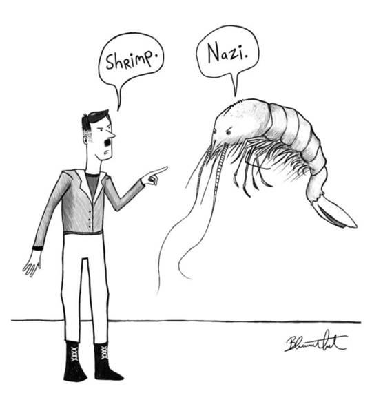 Drawing - Shrimp Update by Yom Tov Blumenthal