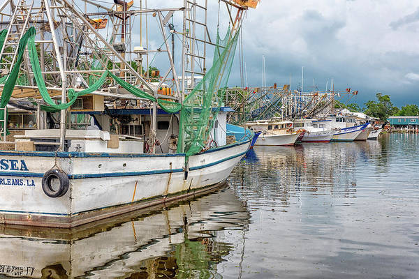 Photograph - Shrimpers In South Louisiana by Victor Culpepper