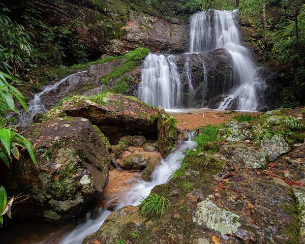 Photograph - Shu Nu Waterfall 8x10 Horizontal by William Dickman