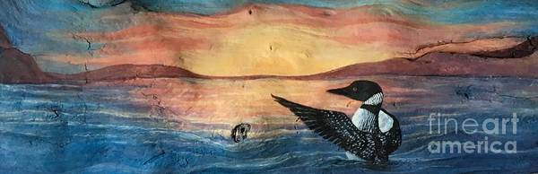 Loon Painting - Shuswap Fantasy by Joey Nash