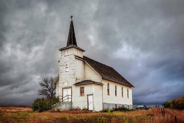 Photograph - Shuttered Church In Cartwright North Dakota by Harriet Feagin