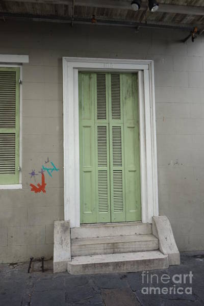 Photograph - Shuttered Doorway - French Quarter New Orleans by Susan Carella