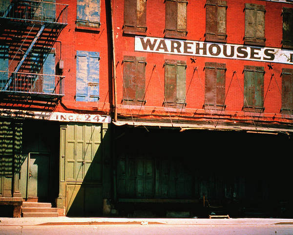 Usa Photograph - Shuttered Warehouse On The Lower East by Walker Evans