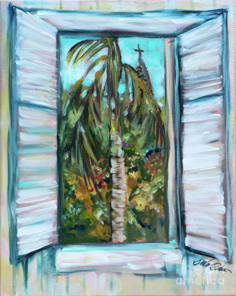 Painting - Shutters At Roseys by Linda Olsen