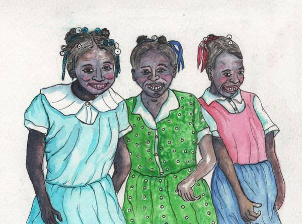 Painting - Shy Girls From South Alabama by Philip Bracco