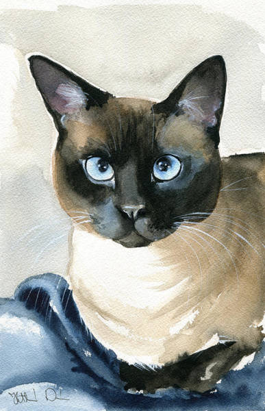 Painting - Siamese Cat Painting by Dora Hathazi Mendes
