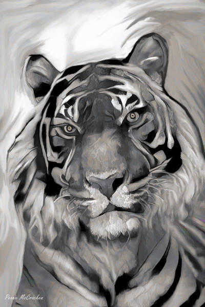 Digital Art - Siberian Tiger by Pennie McCracken