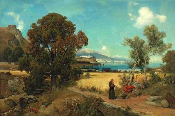 Wall Art - Painting - Sicilian Scene by ASCAN Lutteroth