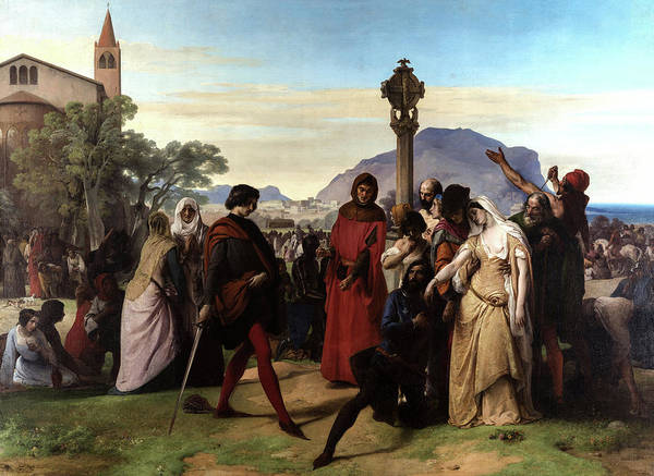 Wall Art - Painting - Sicilian Vespers, 1846 by Francesco Hayez