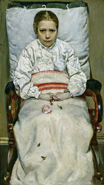 Sick Wall Art - Painting - Sick Girl, 1881 by Christian Krohg