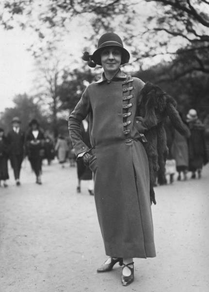 1923 Photograph - Side Buttoning Coat by Seeberger Freres