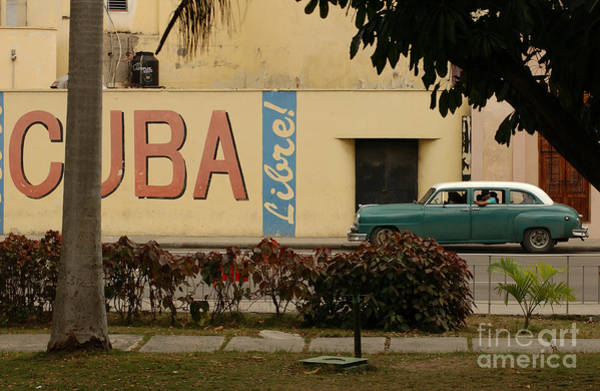 Havana Wall Art - Photograph - Side Profile Of A Vintage Car On An by Keith Levit