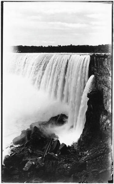 Photograph Photograph - Side View Of Horseshoe Falls by The New York Historical Society