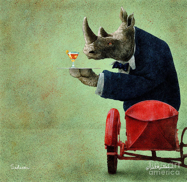 Wall Art - Painting - Sidecar... by Will Bullas