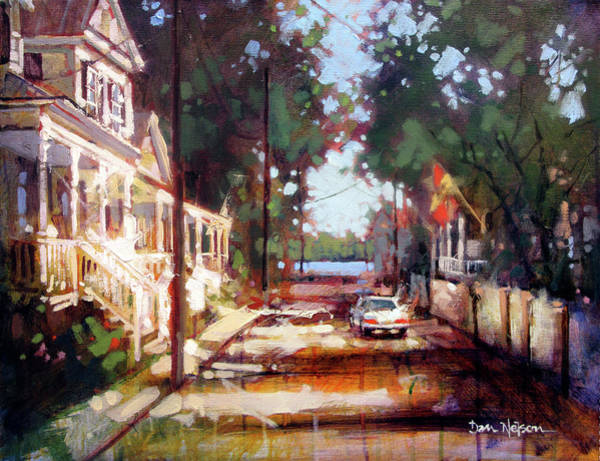 Wall Art - Painting - Sidestreet Sun by Dan Nelson