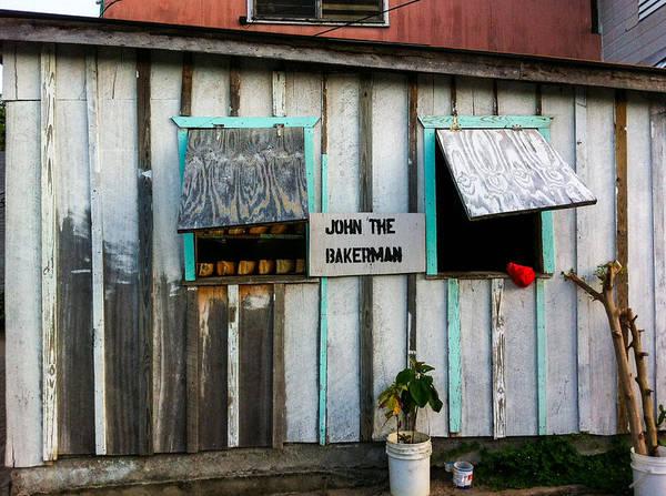 Cinnamon Buns Photograph - Sidewalk Baker by Tina Aye