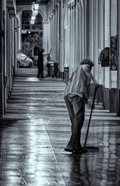 Photograph - Sidewalk Cleaner by Tom Singleton