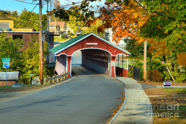 Photograph - Sidewalk To The Thompson Covered Bridge by Adam Jewell
