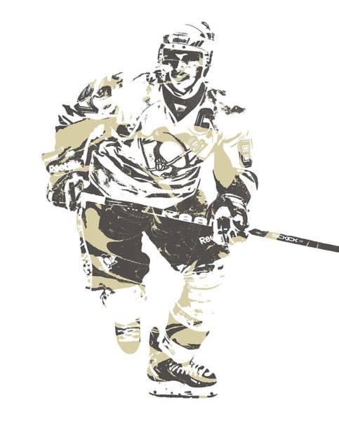 Wall Art - Mixed Media - Sidney Crosby Pittsburgh Penguins Pixel Art 21 by Joe Hamilton