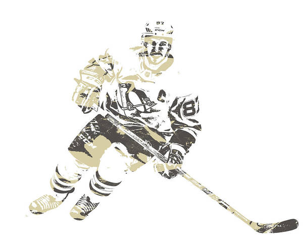Wall Art - Mixed Media - Sidney Crosby Pittsburgh Penguins Pixel Art 22 by Joe Hamilton