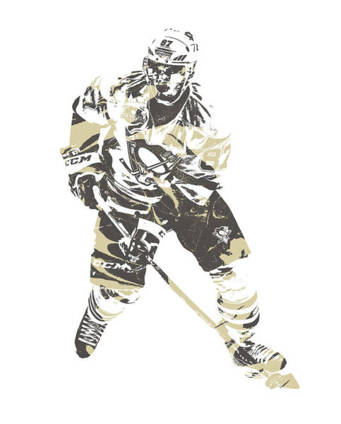 Wall Art - Mixed Media - Sidney Crosby Pittsburgh Penguins Pixel Art 23 by Joe Hamilton