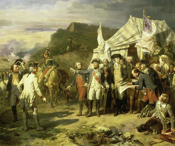 Wall Art - Painting - Siege De Yorktown, 1781 by Auguste Couder