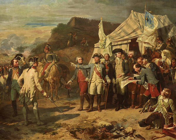 Wall Art - Painting - Siege De Yorktown by Auguste Couder