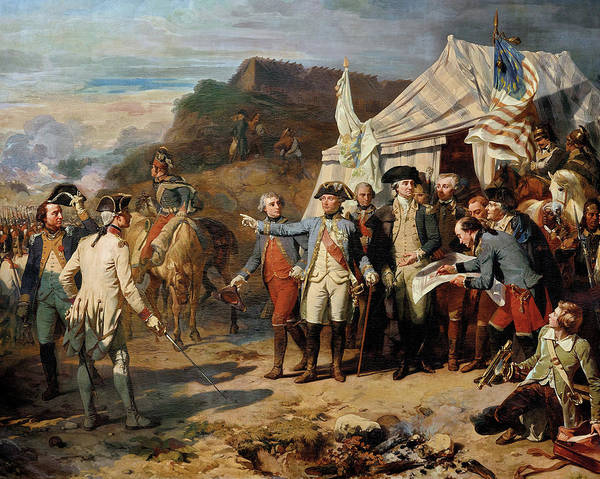 Wall Art - Painting - Siege De Yorktown by Louis Charles Auguste Couder