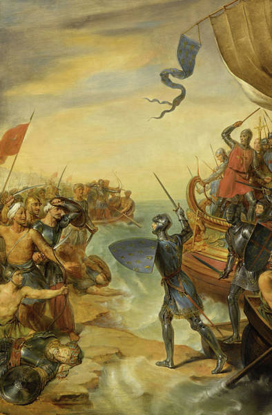 Wall Art - Painting - Siege Of Damietta, Seventh Crusade by Georges Rouget