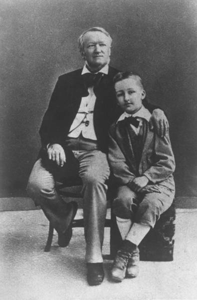 Composer Photograph - Siegfried Wagnerrichard Wagner & Family by Time Life Pictures