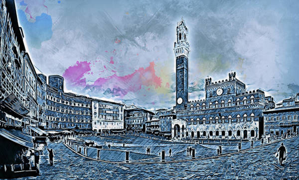 Painting - Siena, Piazza Del Campo - 06 by Andrea Mazzocchetti