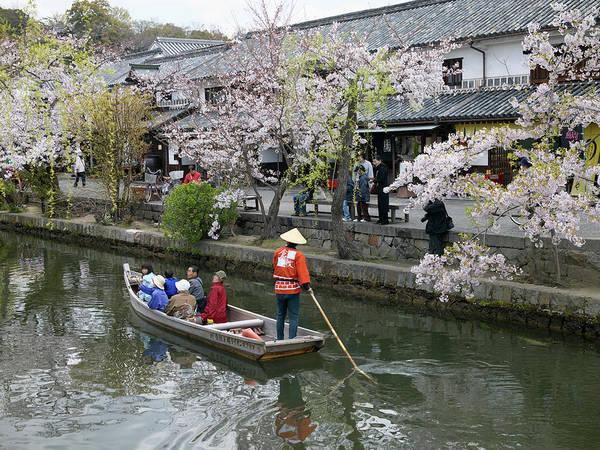 Okayama Prefecture Photograph - Sightseeing Boat On Canal, Kurashiki by Daj