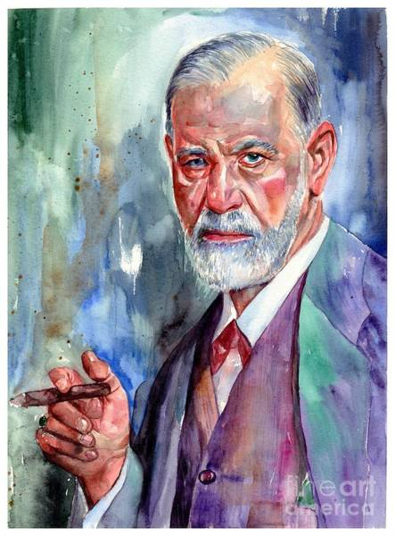 Wall Art - Painting - Sigmund Freud Portrait II by Suzann Sines