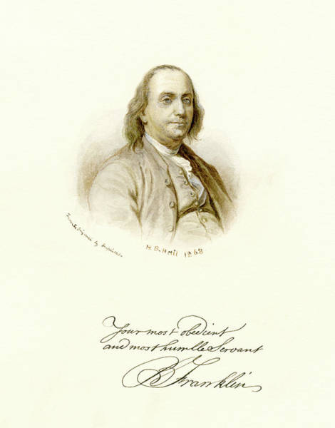 Photograph - Your Servant,  Ben Franklin by Paul W Faust - Impressions of Light