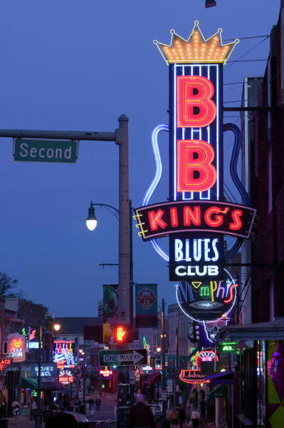Photograph - Signs For Bb Kings Club, Beale Street by Danita Delimont