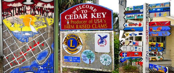 Cedar Key Photograph - Signs Of Cedar Key  by David Lee Thompson